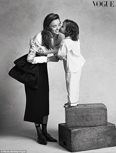 Beautiful: Miranda Kerr and her son Flynn looked picture perfect in the photo shoot they did for Vogue Australia http://dailym.ai/1l4HKkC