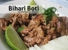 "Try out this Bihari Boti Recipe by Chef Gulzar in cooking show ""Live at 9"" on Masala TV ."