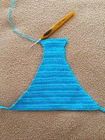 Crochet everything. Crochet Baby Dress Pattern, Crochet Lace Edging, Crochet Baby Booties, Crochet Chart, Modern Crochet Patterns, Crochet Stitches Patterns, Crochet Videos, Mini Bikini, Crochet Clothes