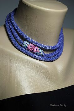 I covered a magnetic closure with polymer canes to create a focal bead for one of my bead crocheted ropes.