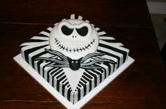 Jack Skellington birthday cake By lizzeeclaire on CakeCentral.com