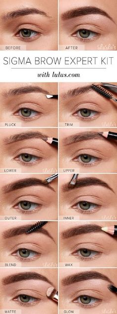 Sigma Brow Expert Kit Eyebrow Tutorial - 13 Best Makeup Tutorials and Infographics for Beginners: