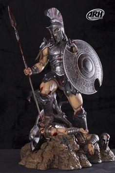 Greek Mythology Tattoos, Greek Mythology Art, Greek Warrior, Angel Warrior, Roman Gods, Ares Tattoo, Gif Animé, Art Model, Fantasy Artwork