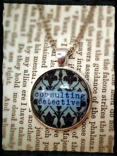 BBC Sherlock Inspired - Sherlock Holmes pendant. @Alison Hobbs Louis We're gonna need these. ;)