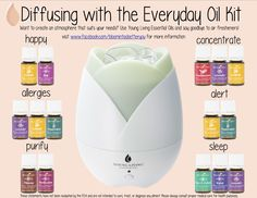 Young Living Essential Oils: Diffuser with the Everyday Oil Kit