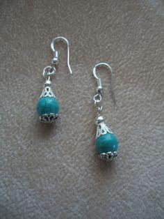 Turquoise Dangle Beaded Earrings by Brendas by BrendasBeading, $9.99