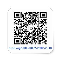 Pegatina Cuadrada ORCID QR code square sticker