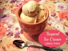 Hello! Tropical Ice Cream {Dairy-Free, Paleo & Vegan}