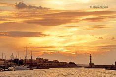 Old harbor, chania, crete, greece