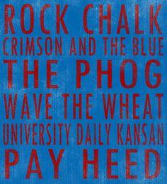 University of Kansas Jayhawks art board