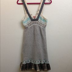Free People Nordic Fair Isle Dress Free People Sweater Dress is pre-owned and has light signs of wear but is in great condition! Soft wool blend. Minimal piling and very cute. Free People Dresses