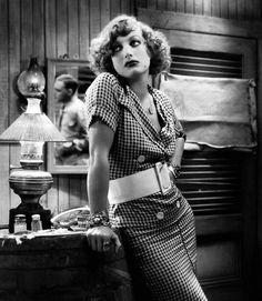 "Joan Crawford as Sadie Thompson in ""Rain""."