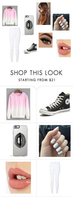 """Tomboyish Valentine's Day outfit"" by asialawson119 on Polyvore featuring Converse, Lipsy, Charlotte Tilbury, women's clothing, women's fashion, women, female, woman, misses and juniors"