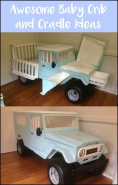 Check out these truck crib with changing table and more unique crib and cradle ideas!