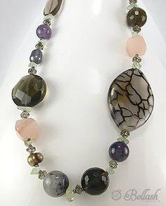51756209 Collar de Piedras, Vidrio, Perlas c/Plata 925, (En oferta)