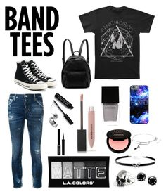 """Panic! at the Disco"" by nekonerdforever ❤ liked on Polyvore featuring Dsquared2, Converse, STELLA McCARTNEY, Witchery, NYX, Bobbi Brown Cosmetics, L.A. Colors, Giorgio Armani, Burberry and Alex and Ani"