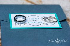 picture of wedding invitation with wedding rings-Denver