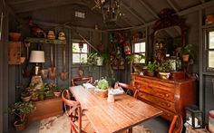 Earth at Hidden Pond - Organic Inspired Al Fresco, Kennebunkport Maine Garden Shed Interiors, Interior Garden, Garden Sheds, Garden Hoe, Interior Design, Shed Wedding, Honeymoon Getaways, Vacations, Potting Sheds