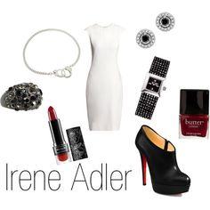 Irene Adler - I feel like it's missing a FAUX fur wrap...