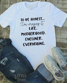 32c6d2a58 Mom shirts | Winging it shirt | Funny Mom Shirts | Little But Fierce Co  Football