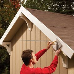 How to Build a Shed on the Cheap (DIY) | Family Handyman Cheap Storage Sheds, Diy Storage Shed, Wood Shed Plans, Diy Shed Plans, Carport Plans, Garden Shed Diy, Fiber Cement Siding, Roof Window, Shed Roof