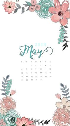 Hello May 2018 iPhone Calendar Wallpapers