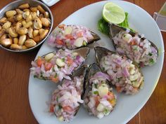 Afternoon Snack - Muscles Gourmet!    Lunch at the Regattas Club in Lima, Peru