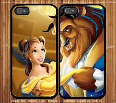 Beauty and the Beast for couple case iPhone pretty please @Justin Cason ?!?