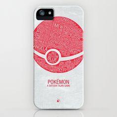 Pokemon Typography iPhone Case by Kody Christian - $35.00