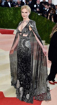 Nicole Kidman wearing Alexander McQueen at the 2016 Met Ball in New York