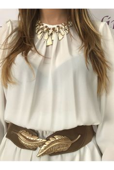 www.dencantoonline.com Ruffle Blouse, Long Sleeve, Sleeves, Tops, Women, Fashion, Fashion Trends, Tent, Necklaces