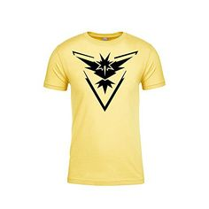 Pokemon Go Shirt Team Instinct Emblem Logo Pokémon GO Shirt Gym Unisex (Large) Pokemon Go Team Instinct, Simple Shirts, Cool Pokemon, Gym Shirts, Neon Colors, Branded T Shirts, Fashion Brands, Unisex, Mens Tops