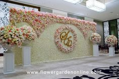 Engagement Stage Decoration, Naming Ceremony Decoration, Wedding Stage Backdrop, Wedding Backdrop Design, Desi Wedding Decor, Wedding Hall Decorations, Wedding Stage Design, Marriage Decoration, Reception Stage Decor