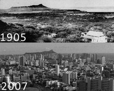 What a difference! My mother was born in Honolulu, Hawaii on the island of Oahu in 1923