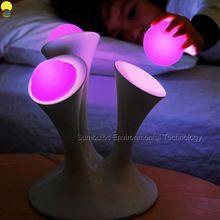 Novo Design Colorido Mágico LED Night Light com 7 Cores Ajustável Tabela De Controle de Toque Lâmpada Fluorescente Luzes de Cama(China (Mainland))
