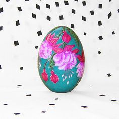 Fuchsias 2. Duck egg. Easter eggs. by agats on Etsy