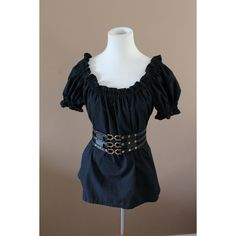 Basic Black Cotton Ladies Renaissance Costume Dress Chemise Medieval... (4510 RSD) ❤ liked on Polyvore featuring costumes, cotton chemise, ladies chemise, peasant costume, womens renaissance costumes and renaissance halloween costume