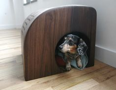 Modern Indoor Dog House by BKLYN-BCN Design.