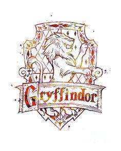 Gryffindor Crest Mixed Media by Monn Print