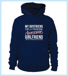 Teezily sells Hoodies & Sweatshirts Boyfriend has a awesome Girlfriend Shirt online ▻ Fast worldwide shipping ▻ Unique style, color and graphic ▻ Start shopping today! Amazing Girlfriend, Best Boyfriend, Boyfriend Gifts, Custom T Shirt Printing, Custom Shirts, Valentine T Shirts, Valentines, Hoodies, Sweatshirts