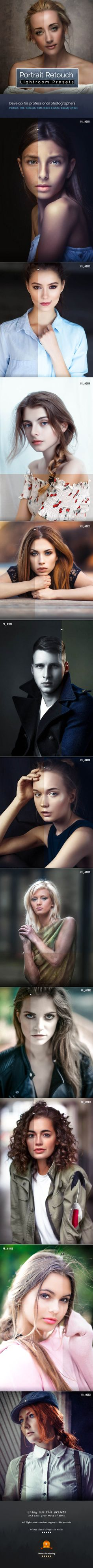 Portrait Retouch Presets — LRTemplate #lightroom presets #hdr • Available here ➝ https://graphicriver.net/item/portrait-retouch-presets/20696501?ref=pxcr