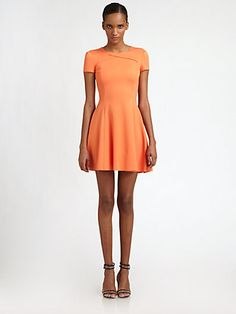Halston Heritage - Cross-Neck Dress - Saks.com