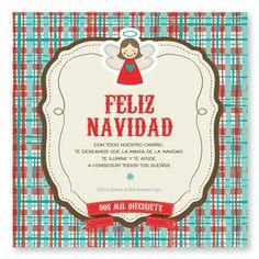 Vintage Label ::  tarjetas para navidad y fin de año