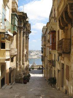 Towards the harbor - Valletta, Malta