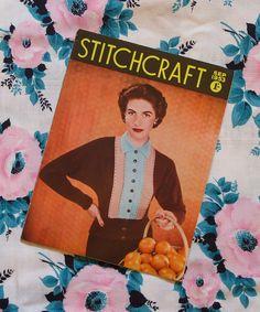 Vintage 1950s STITCHCRAFT revista / septiembre por HepCatVintageUK