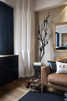 Welcome to darren palmer interiors. Love the colour palette, interesting detail on gyprock corners Darren Palmer Interiors, Interior Styling, Interior Decorating, Decorating Ideas, Beautiful Interiors, Home Decor Styles, Living Spaces, Living Rooms, Interior Architecture