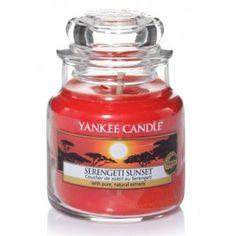 Boutique bougies parfumées Yankee Candle petite jarre serengeti sunset couché soleil