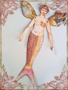 mermaid paper dolls   paper doll mermaid