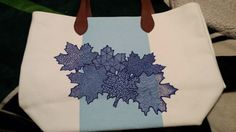 Summer tote bag for sale.  Lisa Mahin 2015  Zentangle enhanced