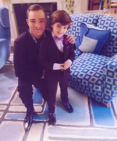Chuck and Henry Bass, always a favorite picture.